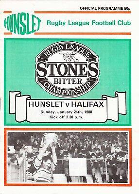 Hunslet v Halifax 1987/8