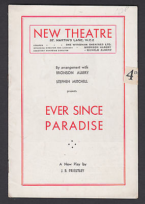 1947. New Theatre London. 'Ever Since Paradise' Roger Livesey,  Jane Carr K1.53