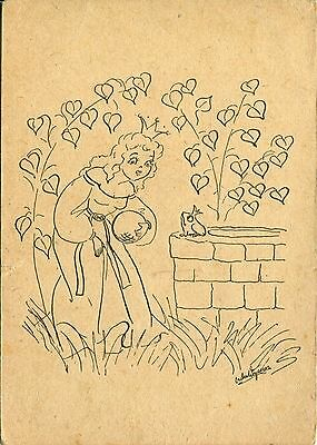 Alte Kunstpostkarte - Froschkönig