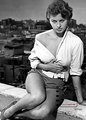 """Sophia Loren B&W 5""""x 7"""" Fine art photography from Private Collection REPRINT"""