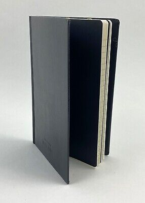 Chanel Auth Black Leather Boy Friend Note Book Pad Journal Diary 5.25 X 8 38