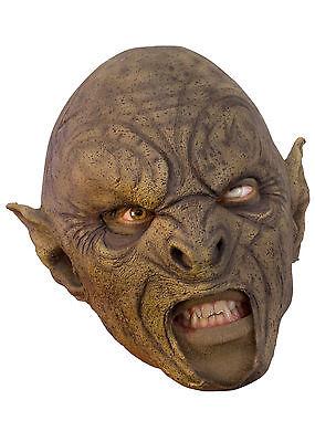 Battle Merchant Ork-Maske Braun Fasching Halloween Monster LARP Gummimaske