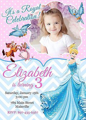 Cinderella Birthday Party Invitation - Cinderella Birthday Invitations