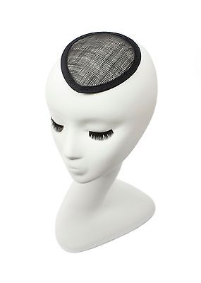 Black Sinamay Teardrop Fascinator Hat Base - Available in 16 Colors