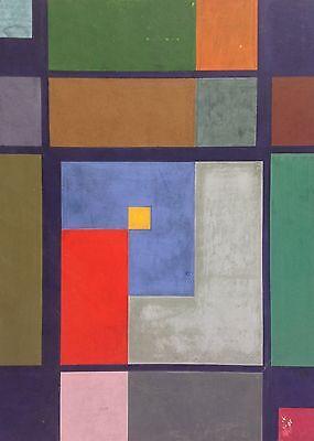 Gemälde geometrische Abstraktion Konkrete Kunst Color Field Painting Delling ~50