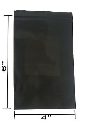 4x6 Uneekmailers Baggies Mini Ziplock Bags Black 500 Count Semi-transparent