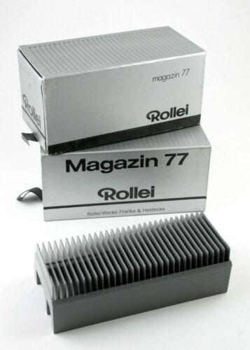 U200280 Two Rollei Magazin 77 Slide Trays for Rollei Medium-Format Projectors