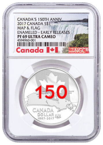 2017 Canada 150th Home/Native Land 3/4oz Silver Enameled NGC PF69 UC ER SKU48910
