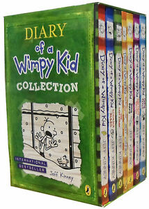 Diary-of-a-Wimpy-Kid-Collection-7-Books-Set-cabin-fever-Ugly-Truth-Last-Straw