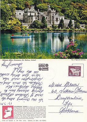 1981 KYLEMORE ABBEY CONNEMARA COUNTY GALWAY IRELAND COLOUR POSTCARD