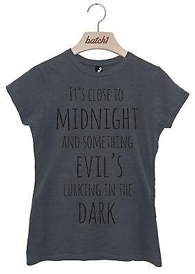 Nahe zu Mitternachts Michael Jackson Thriller Halloween Kostüm Damen T-Shirt (Michael Jackson Thriller-halloween-kostüm)