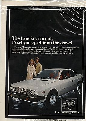 Original 1978 Lancia Magazine Ad - ...Apart From the Crowd
