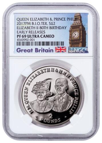 2017 British Indian Ocean Queen 80th Birthday Silver NGC PF69 UC ER SKU48450