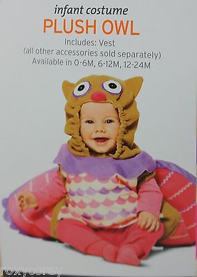 Halloween Infant Plush Owl Costume Size 6-12 months NWT - Owl Baby Halloween Costume