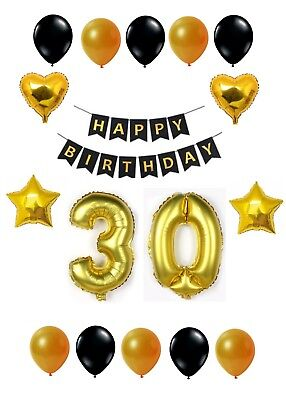 Happy Birthday Luftballons Set Folienballon  Wimpel Geburtstag 40cm 30 40 50 60