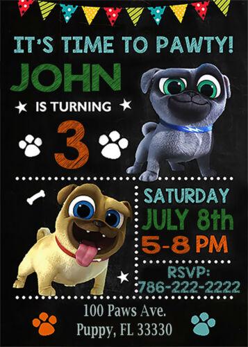 Puppy Dog Pals Digital Electronic Invitation