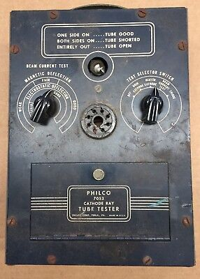 Vintage Philco Model 7053 Cathode Ray Radio Tv Tube Tester-used Needs Resto