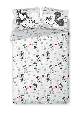 Disney Mickey Mouse Bettwäsche Baumwolle Bettgarnitur 160x200cm + 2tlg 70x80 FO