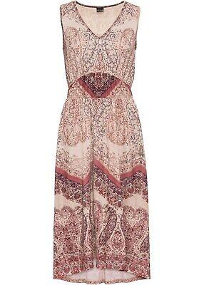 Kleid  beige Boho Midi Partykleid Strandkleid 32 - 54 neu993 (Jersey-kleid)