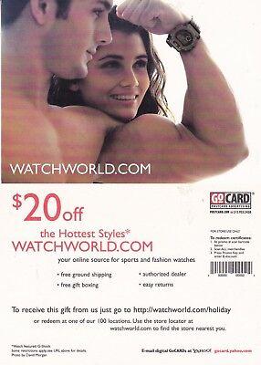 WATCHWORLD.COM UNUSED ADVERTISING COLOUR  POSTCARD