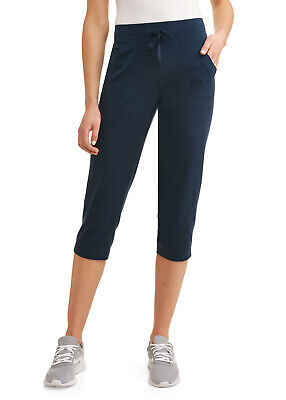 ***NEW ATHLETIC WORKS WOMEN'S ATHLEISURE CASUAL CORE KNIT BLUE CAPRIS XXL (20)