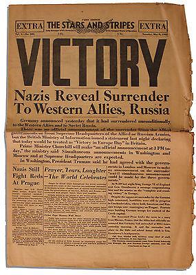 Wwii Us Department Of Defense 1945 Newspaper Stars