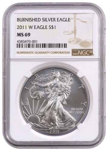 2011-W 1 oz. Burnished American Silver Eagle $1 NGC MS69 SKU24167