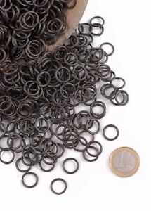 3 kg loose rings, blackened, 9mm ID for Chainmail, Coif, LARP Chain mail maille