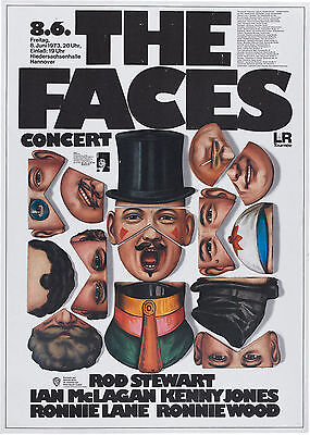 """The Faces Germany 16"""" x 12"""" Photo Repro Concert Poster"""