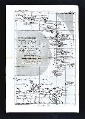 1779 Bonne Map - Antilles Islands Puerto Rico Trinidad Martinique West Indies