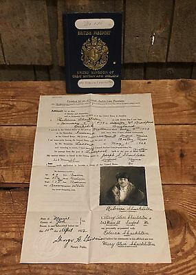 Original 1920s United Kingdom British Passport With Extras