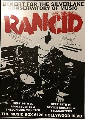 Rancid Benefit for Silverlake Conservatory of Music Poster