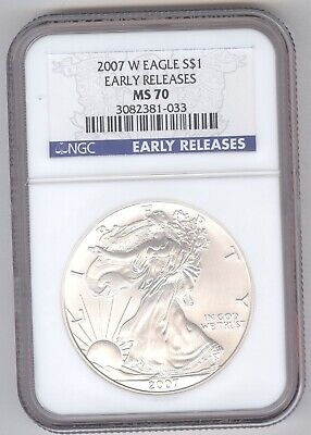 2007 W Eagle S$1 MS 70 Early Release + American Silver Eagle + NGC + No Reserve!