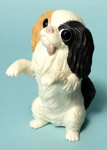 Kitan Club Japanese Chin Dog mix white black red color mini figure US seller new