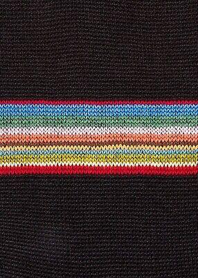NWT Paul Smith Men's Block Stripe socks, black. Made in Italy.