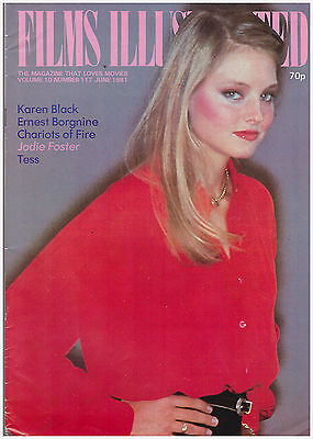 FILMS ILLUSTRATED JODIE FOSTER COVER JUNE 1981 VOLUME 10 NUMBER 117