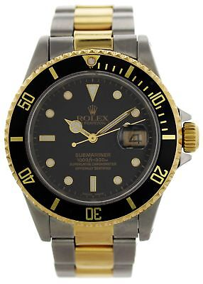 Rolex Oyster Perpetual Submariner Date 18k 16613 Mens Watch