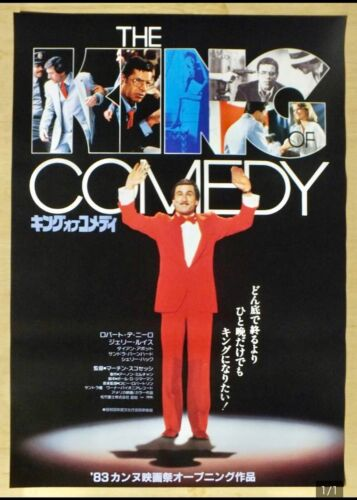 The King of Comedy Japan Original movie poster Almost unused B2 size! 1983
