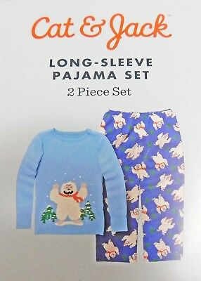 (Christmas Cat & Jack Blue Yeti Infant/Toddler Boys Pajama Set (18 Months - 4T))
