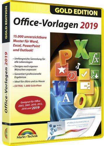 Office Vorlagen 19 - 15000 Muster für Word, Excel, PowerPoint + Gratis Schriften
