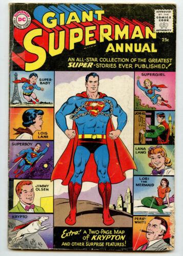 Giant Superman Annual #1 Dc Comics Silver Age 1960