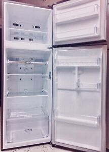 LG STAINLESS STEEL FRIDGE/FREEZER 320L GREAT CONDITION • FREE DELIVERY