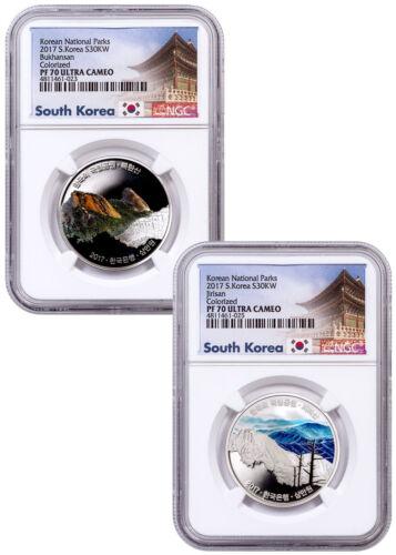 2017 South Korea National Parks - 2-Coin Set Silver Proof NGC PF70 UC SKU52999