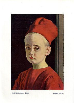 Ernst Würtenberger, Zürich Thomas Kinder- Motiv Histor. Farb- Kunstdruck v.1912