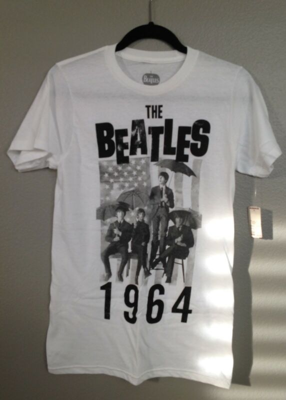 NWT The Beatles Graphic T-shirt Tee 2013 size small Apple corps LTD white unisex