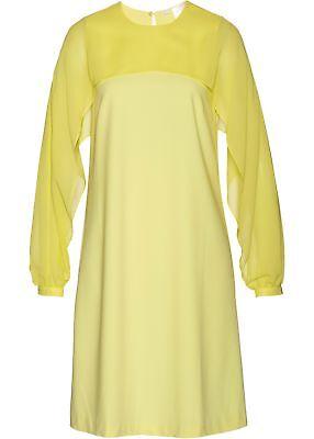Kleid mit Chiffonärmeln Gr. 36 Helllimone Mini-Haul someone over the coals Langarm Abendkleid Neu