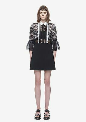 NWT Self-Portrait Bell Sleeve Shift Dress with Collar UK 6 US 2 for sale  Shipping to India
