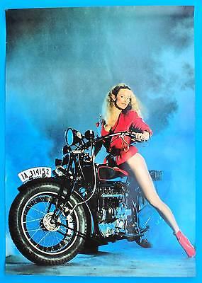 DDR Plakat Poster 942 | Oldtimer Motorrad Model | 81 x 58 cm Original um 1980