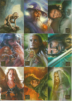 Topps Lord of the Rings Masterpieces I & II Base Set 90 & 72 Card Collection