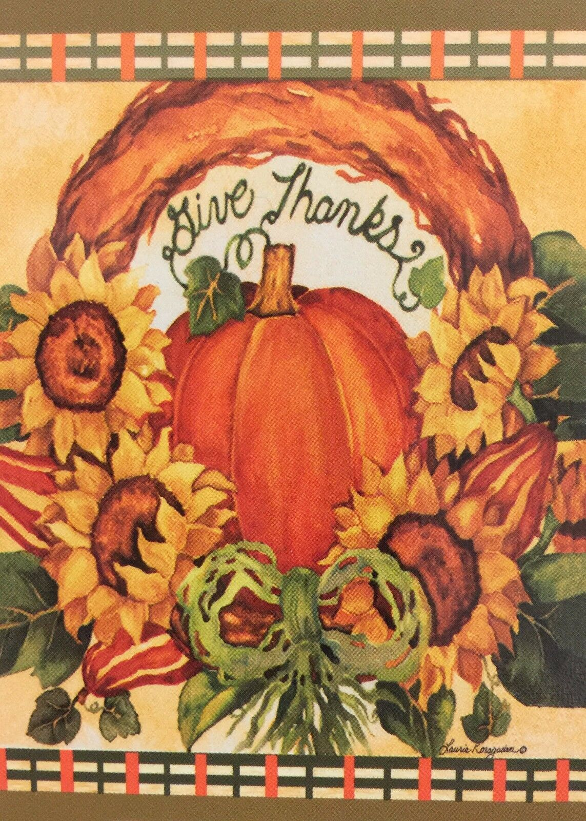 give thanks pumpkin garden flag 12 x